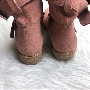 Dolce Vita Shoes - Dolce Vita | Pink Suede Buckle Moto Combat Boot